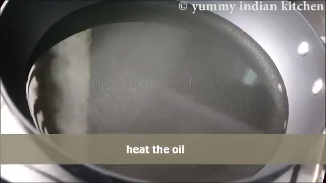 heating the oil to deep fry