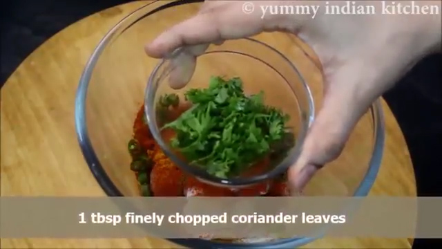 adding finely chopped coriander leaves