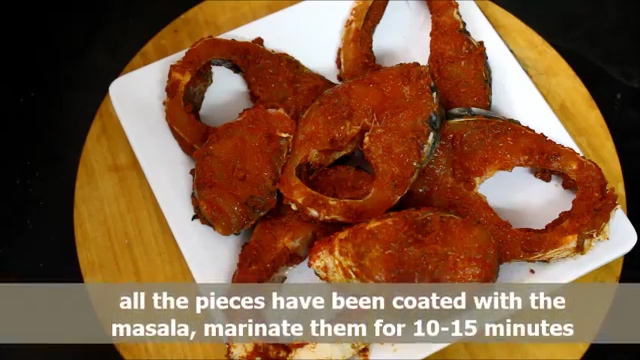 marinate the fish for 10-15 minutes