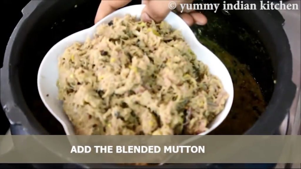blended paste of mutton into the haleem recipe