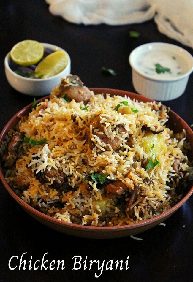 pakistani chicken biryani served in a bowl