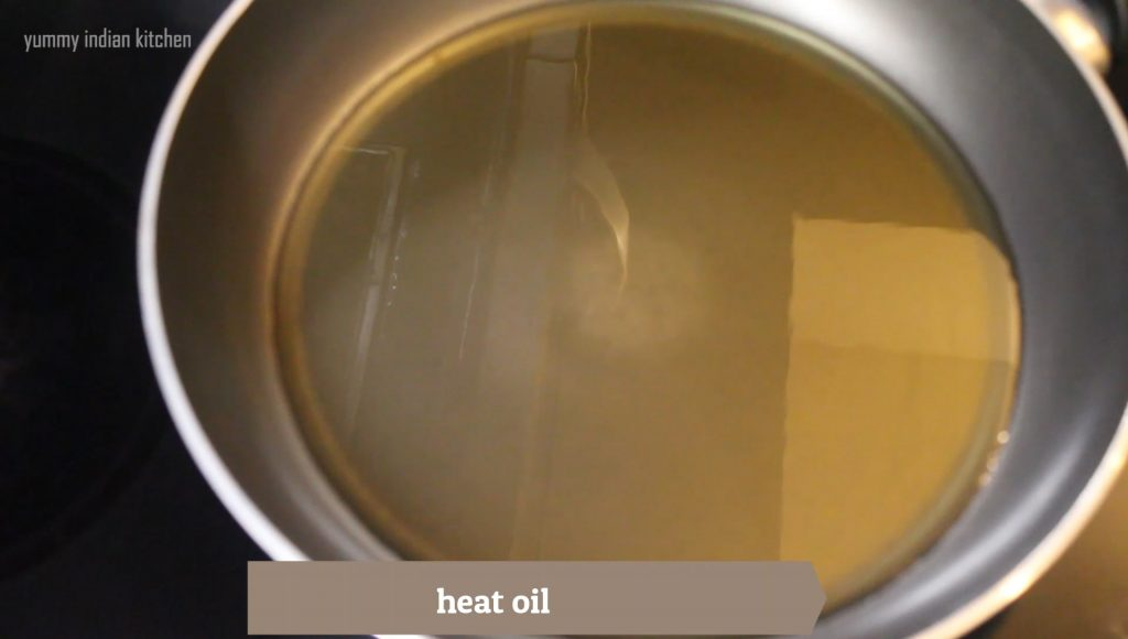 Heating oil for frying