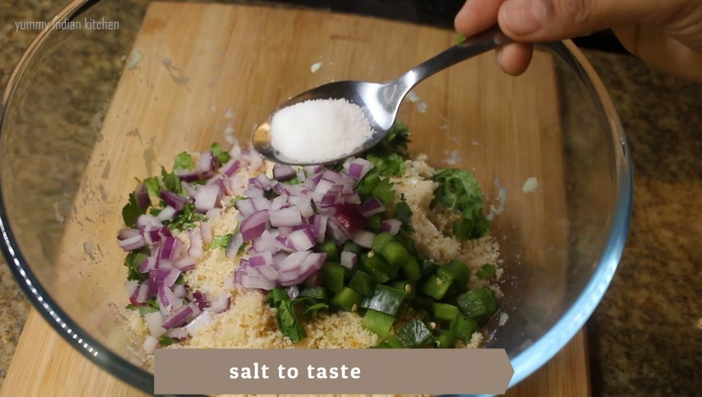 Adding dry spices such as salt