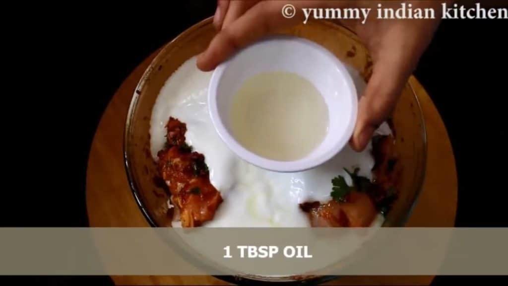 adding green cardamom powder, lemon extract, oil