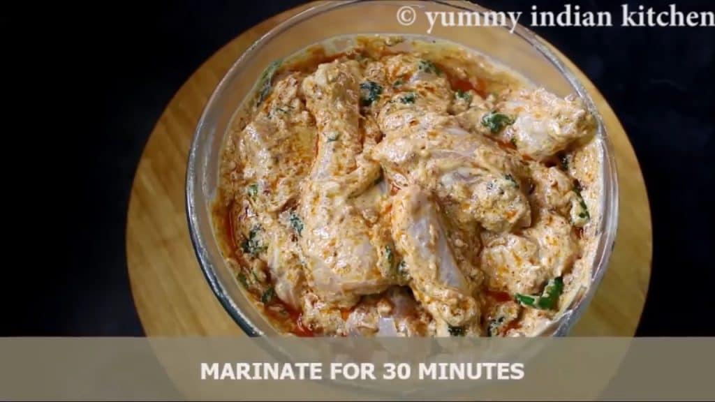 marinating the chicken biryani recipe