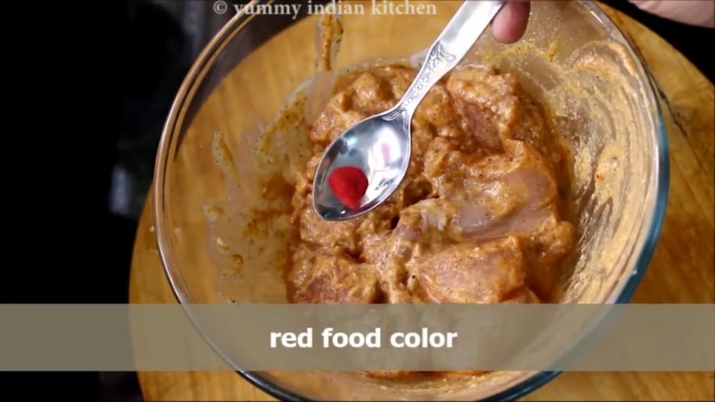 Add red food color