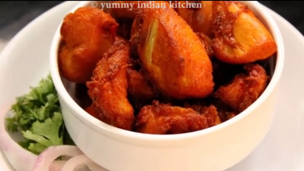 fried chicken is ready in bowl