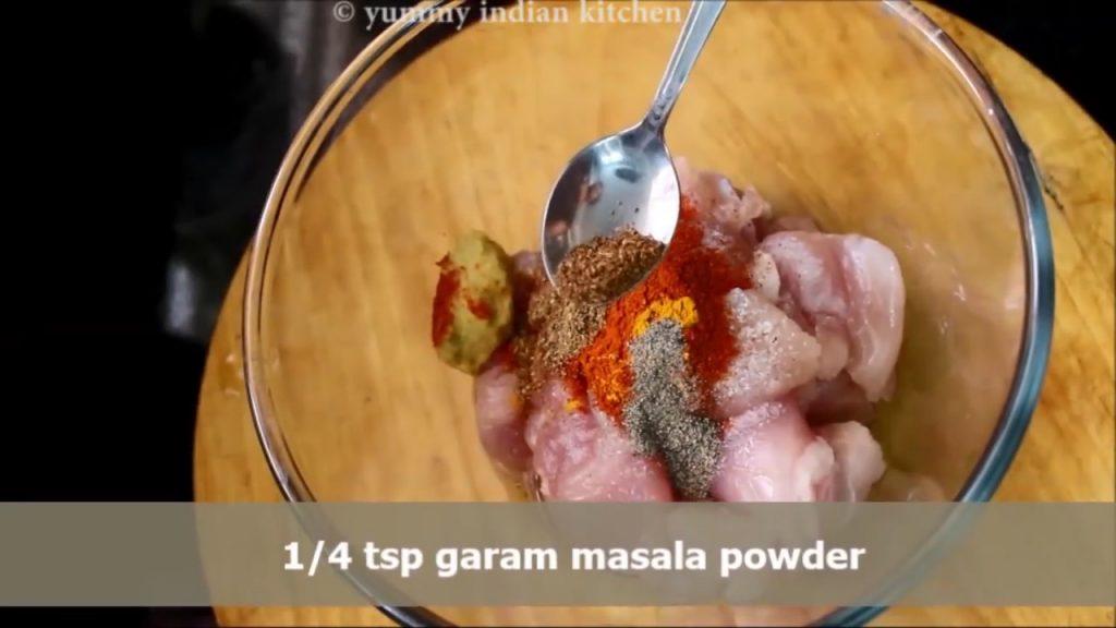 add garam masala to the marinde