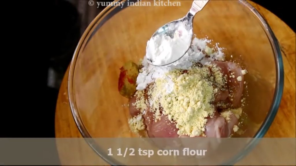 add corn flour to make chicken fry