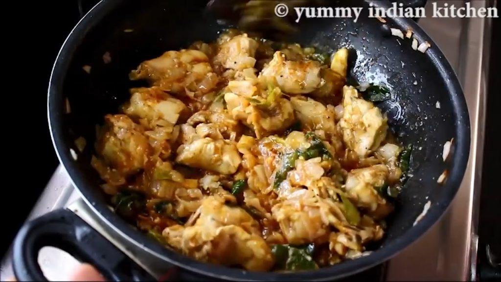 roasting the chicken