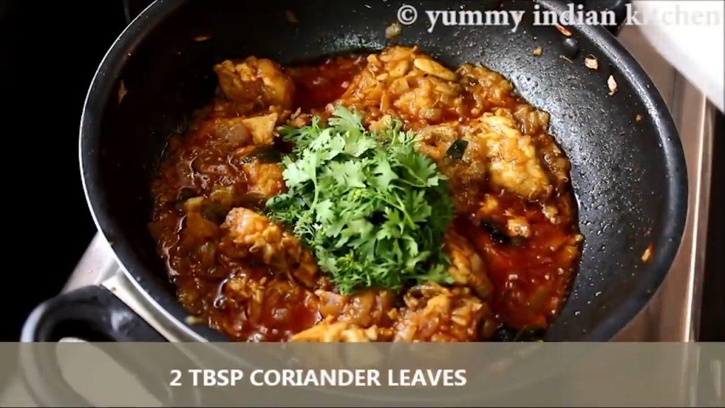 add coriander leaves