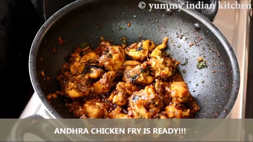 south indian chicken fry is ready to serve
