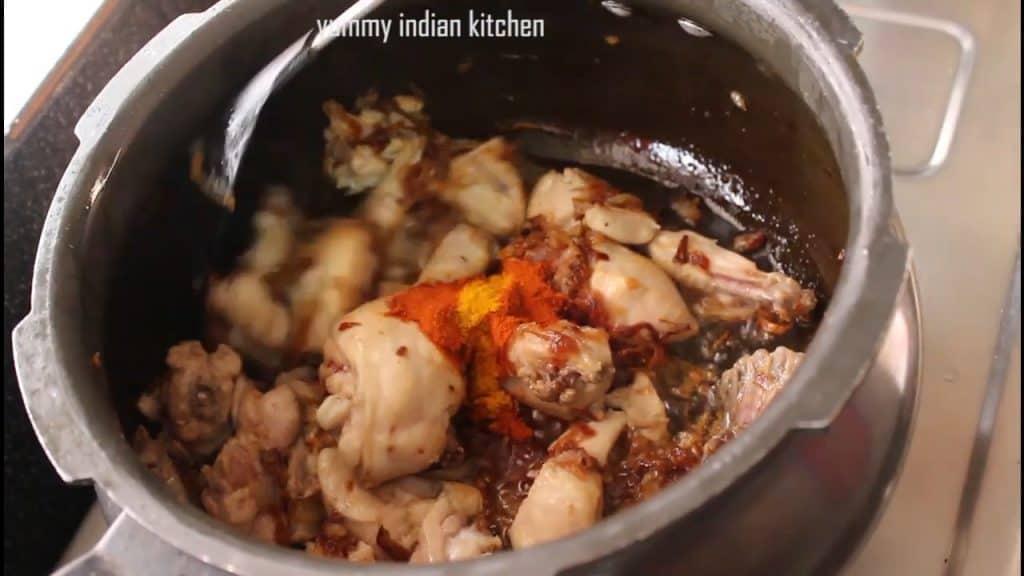 Adding spices
