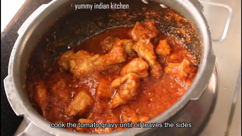 Cook the tomato masala for few minutes