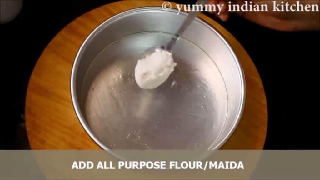 Adding some all purpose flour