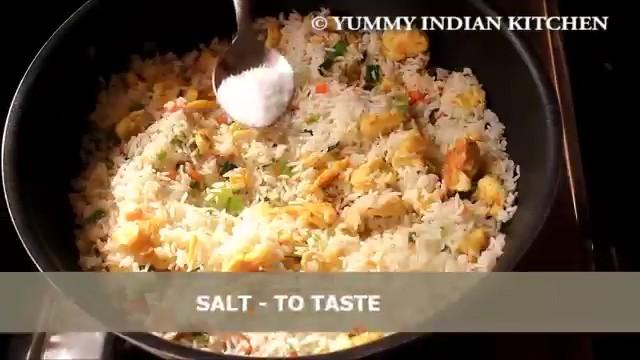 Adding salt as per taste