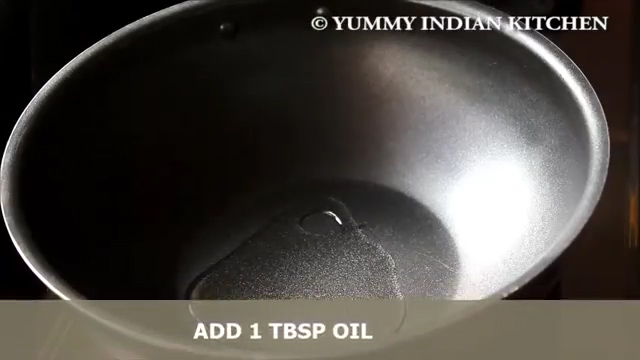 adding oil and heating it