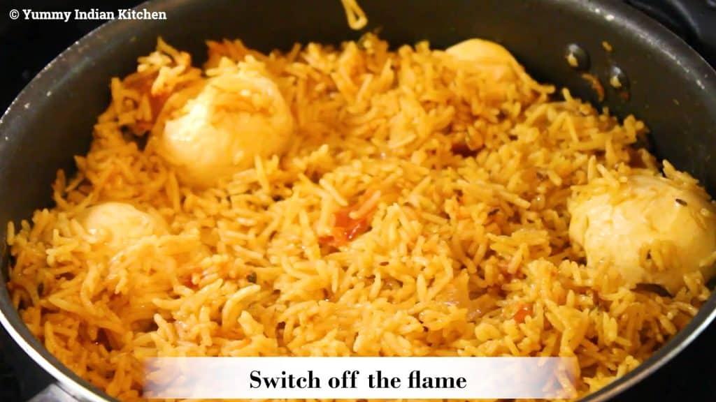 serve the egg pulao