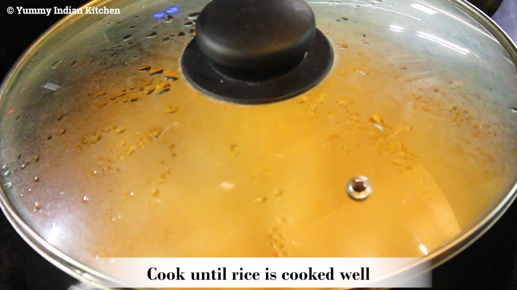 covering and cooking until done