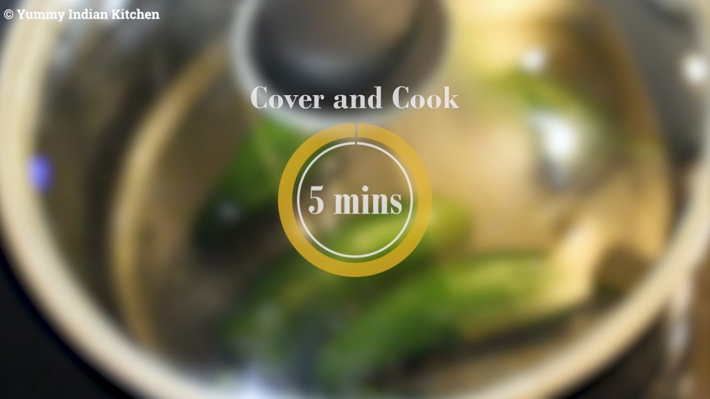 cooking for about five minutes.