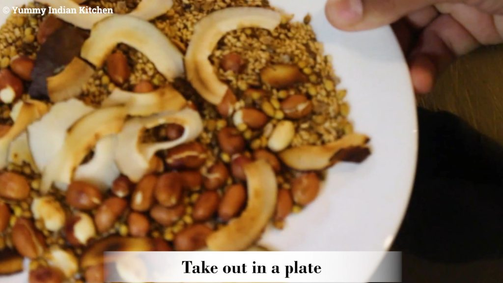 taking them out in a plate