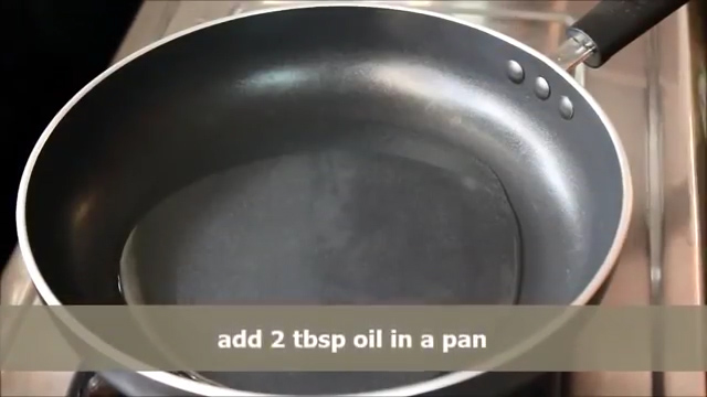 adding oil and heating it.