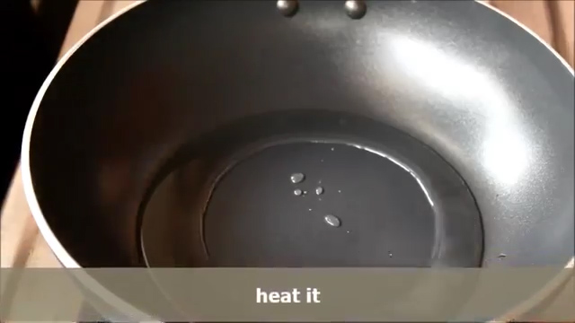 adding oil and heat it