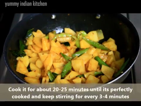 stir frying for about 20 minutes