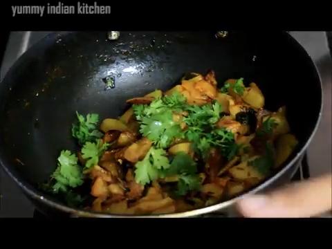 serving aloo fry