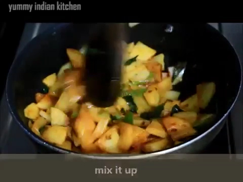 mixing and cooking well