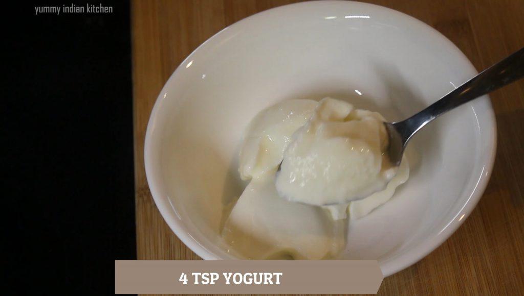 adding yogurt or thick yogurt
