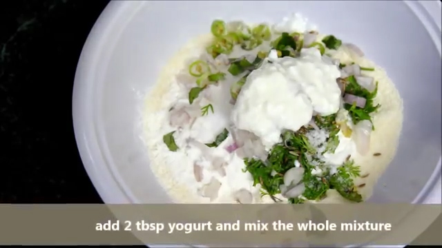 Adding yoghurt