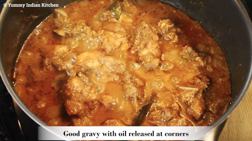 cooking the chettinad chicken gravy