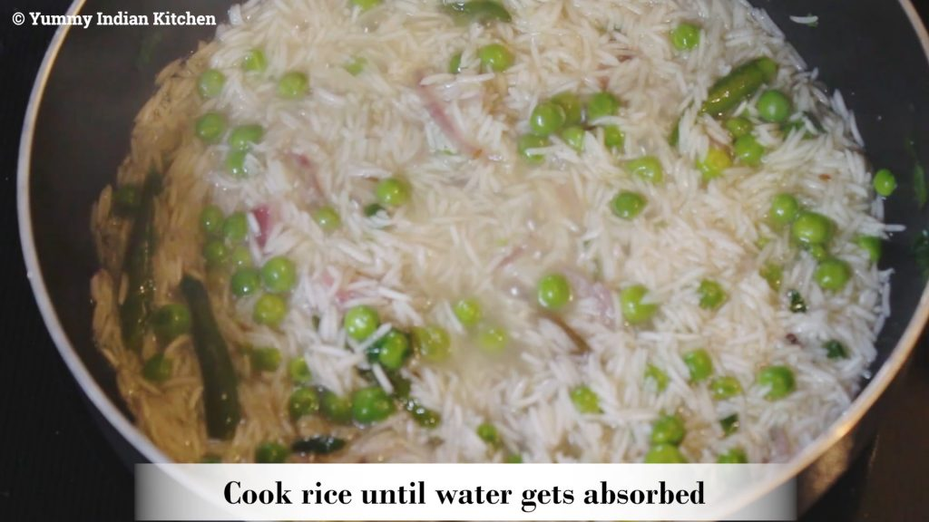 how to make matar pulao