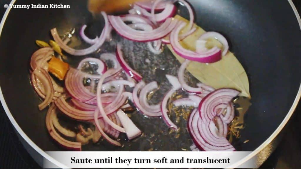Adding sliced onions
