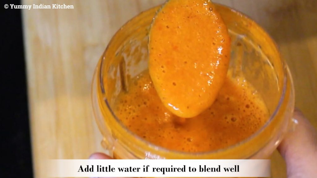 Blend all the ingredients into a thick paste