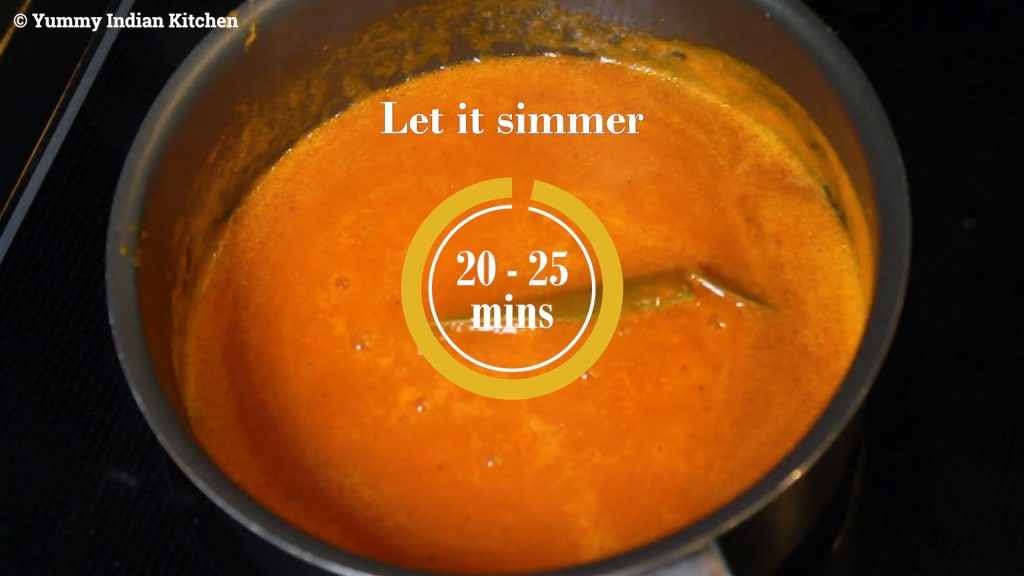 simmering for at least 20-25 minutes