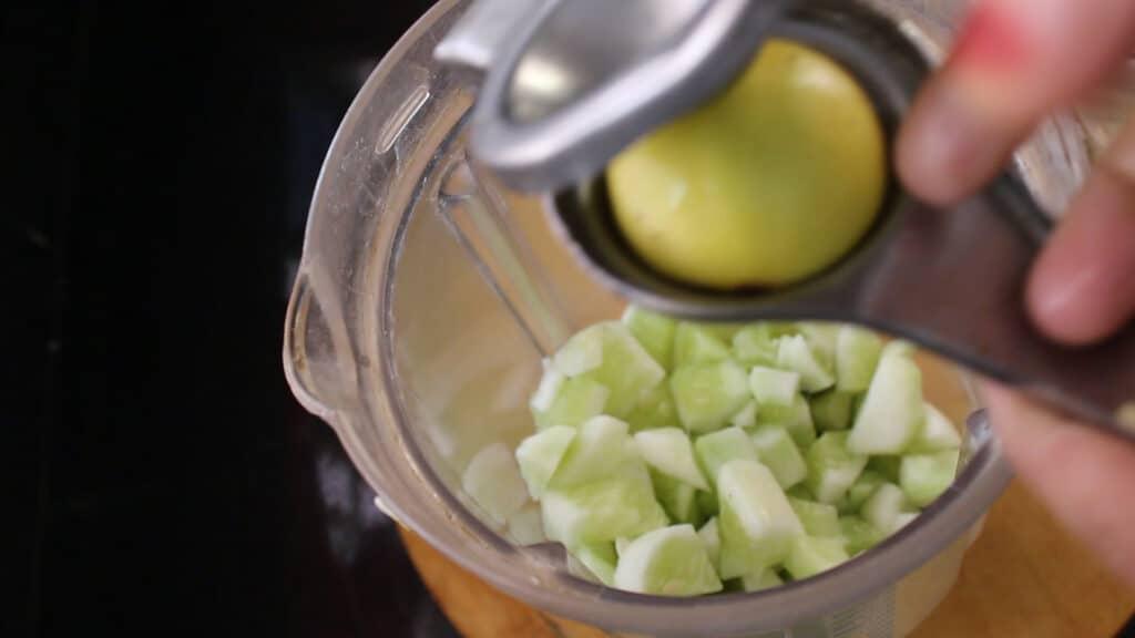 squeezing a few lemon drops into the jar