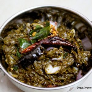 gongura pachadi served in a serving bowl