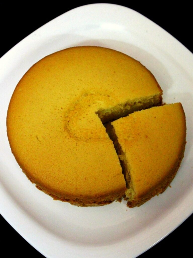 cooker cake on a plate