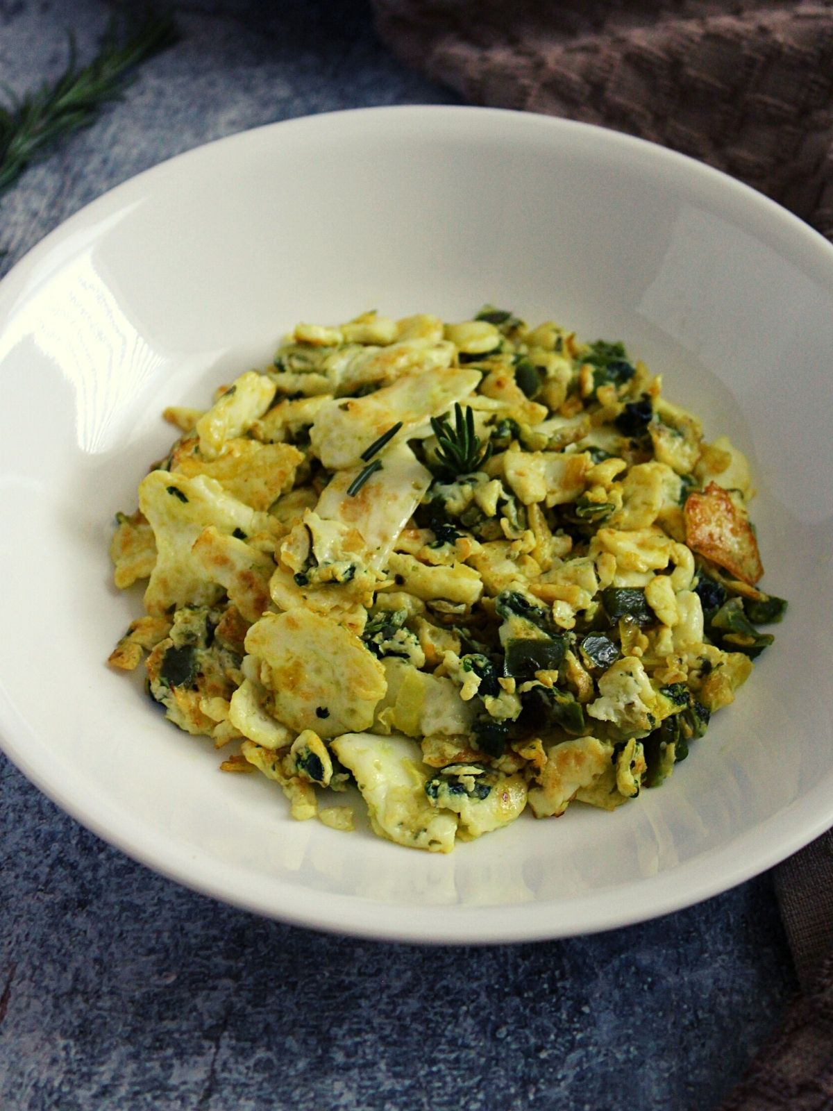 scrambled egg whites in a bowl