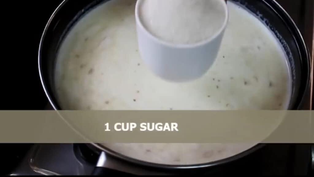adding sugar as per requirement