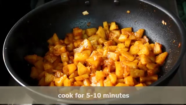 cooking the aloo