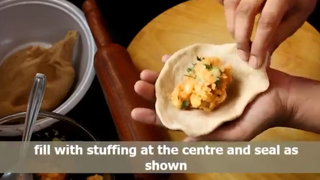 stuffing with potato mix