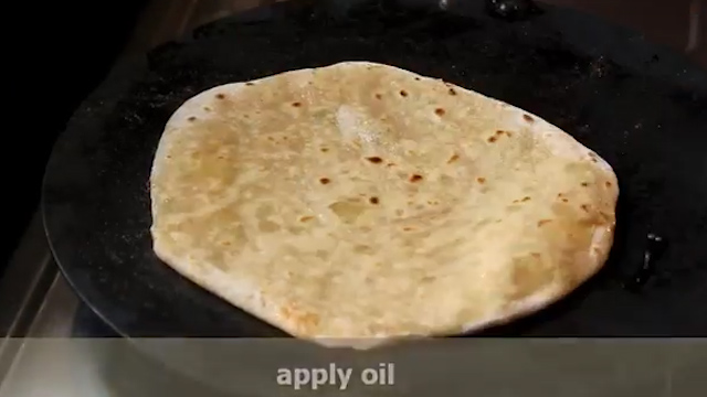 cooking aloo paratha with oil or butter