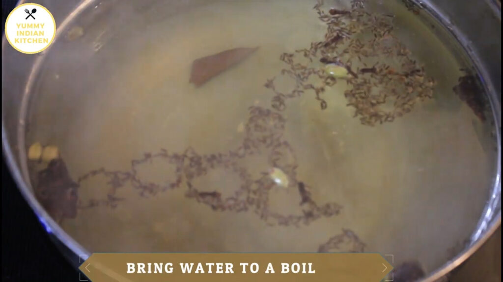 boiling water with spices