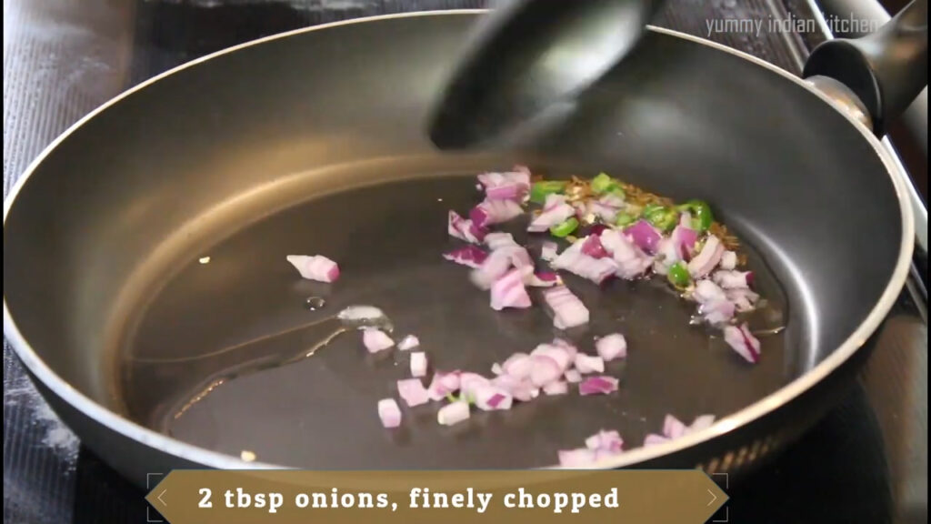 sauteing onions and chilli