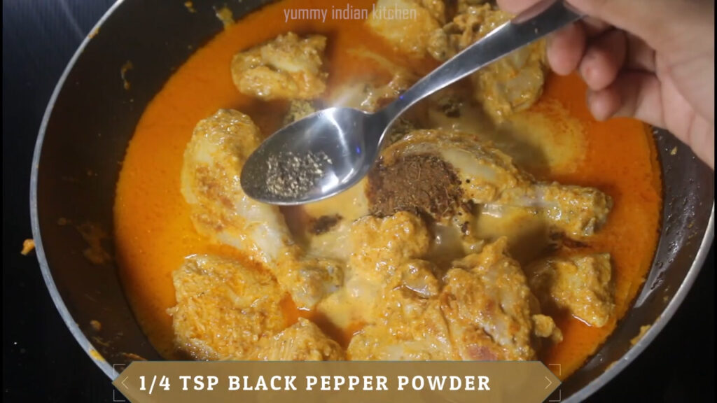 adding water and spice powders
