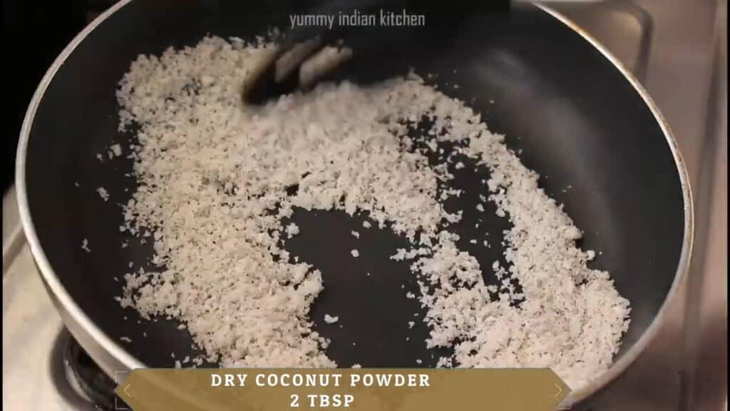 roasted coconut