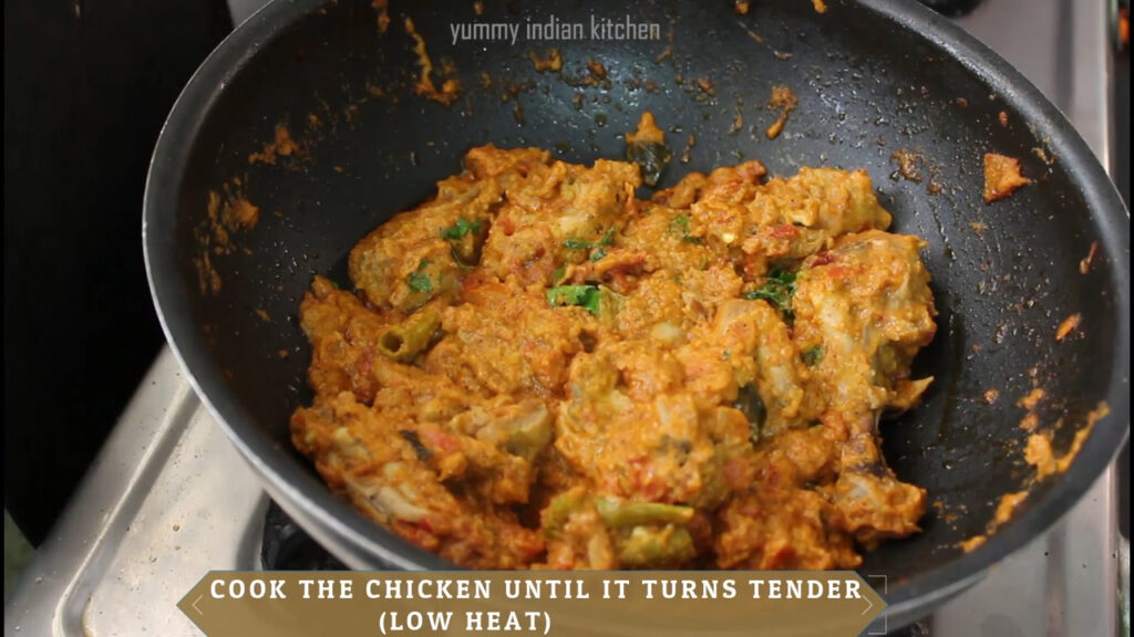 cooking chicken sukka until done and soft